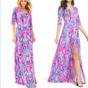 Lilly Pulitzer Marvista Wrap Maxi Dress Size Small